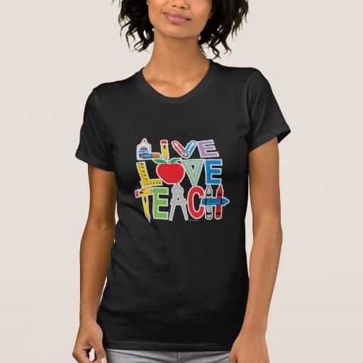 El amor vivo enseña camiseta