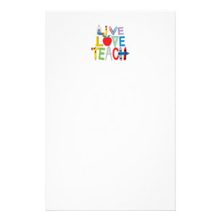 El amor vivo enseña papeleria personalizada