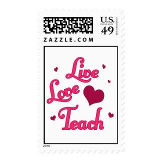 El amor vivo enseña timbres postales