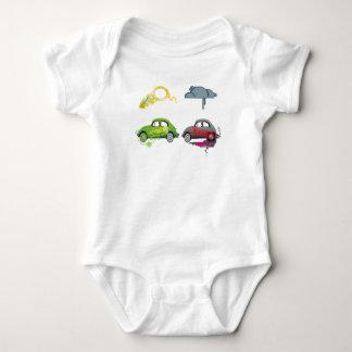 El amor vivo recicla personalizable verde body para bebé