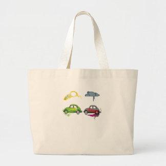 El amor vivo recicla personalizable verde bolsa tela grande