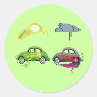 El amor vivo recicla personalizable verde pegatina redonda