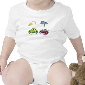 El amor vivo recicla personalizable verde traje de bebé
