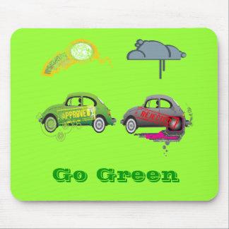 El amor vivo recicla personalizable verde tapetes de ratones