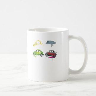 El amor vivo recicla personalizable verde taza de café