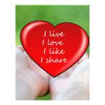 El amor vivo tiene gusto de corazones del corazón  membrete