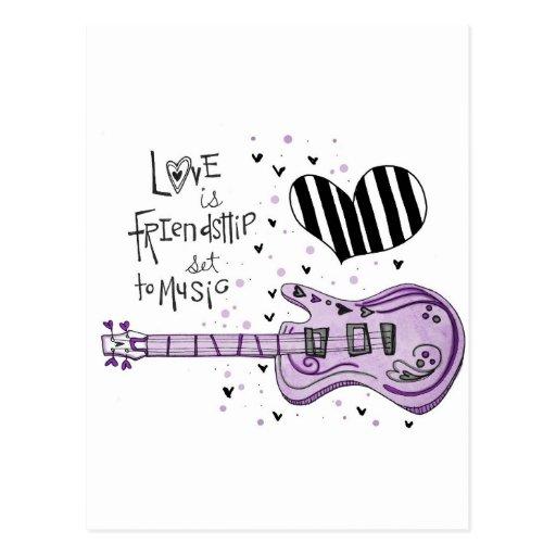 el amor vol25 es amistad tarjetas postales