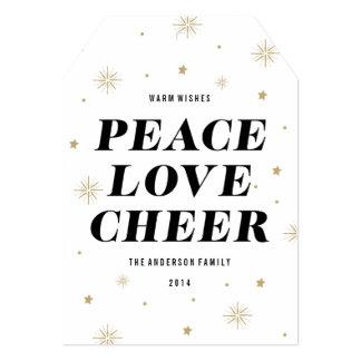 El amor y anima la tarjeta de la foto del día de comunicado personal