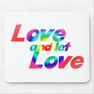 El amor y dejó amor tapetes de raton