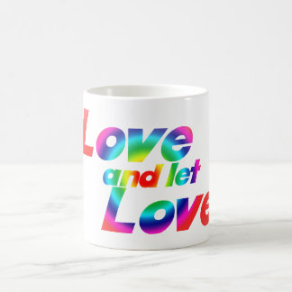 El amor y dejó amor taza básica blanca