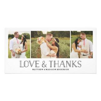 El amor y las gracias Boho el   que se casa le Tarjeta Personal Con Foto