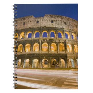 el ampitheatre de Colosseum iluminado en la noche  Libros De Apuntes Con Espiral