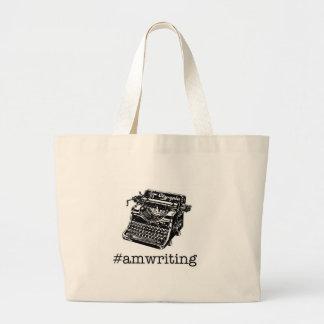 el #amwriting bolsa tela grande