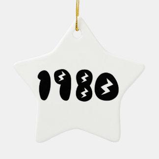 el an o 80 adorno navideño de cerámica en forma de estrella