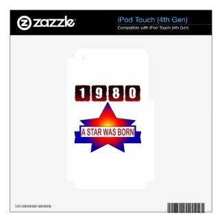 El an o 80 una estrella nació calcomanía para iPod touch 4G