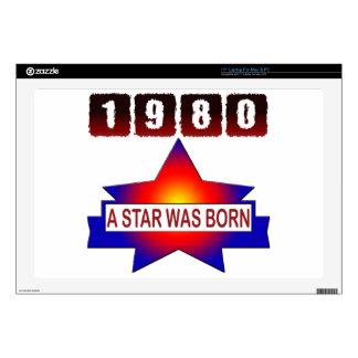 El an o 80 una estrella nació calcomanías para 43,2cm portátiles