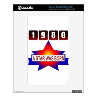 El an o 80 una estrella nació calcomanías para NOOK color