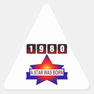 El an o 80 una estrella nació pegatina triangular