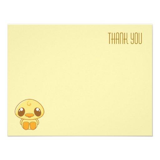 El anadón amarillo de Kawaii el | plano le agradec Comunicado Personalizado