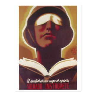El analfabetismo ciega su poster del postal