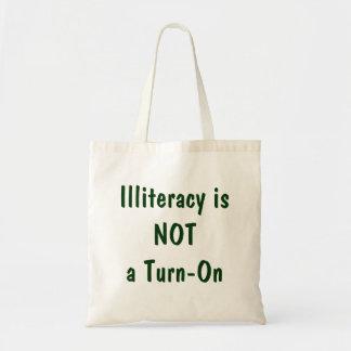 El analfabetismo no es un excitamiento bolsas lienzo