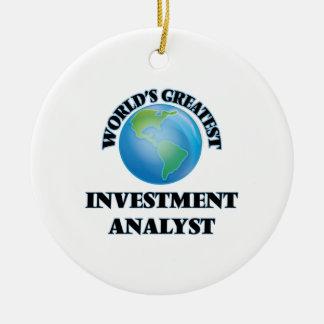 El analista de la inversión más grande del mundo adorno navideño redondo de cerámica