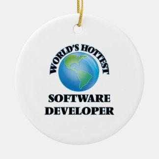 El analista de programas informáticos más caliente adorno redondo de cerámica