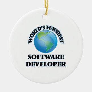 El analista de programas informáticos más adorno redondo de cerámica