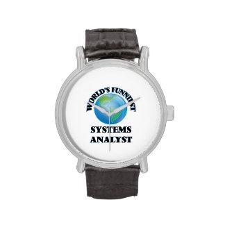 El analista de sistemas más divertido del mundo reloj de mano