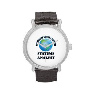 El analista de sistemas más listo del mundo reloj de mano