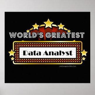 El analista más grande de los datos del mundo póster