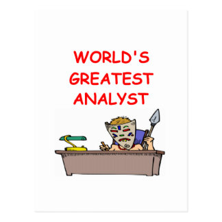 el analista más grande del mundo postales