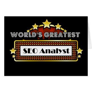 El analista más grande del SEO del mundo Tarjeta De Felicitación
