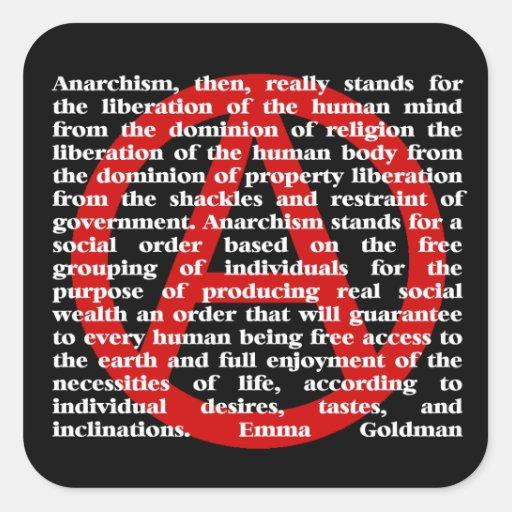 El anarquismo es pegatina de la cita