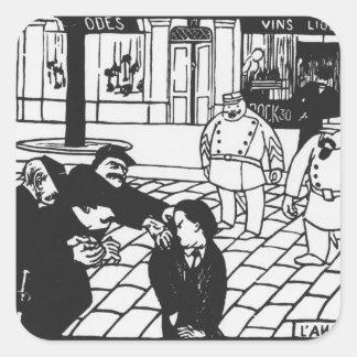 El anarquista, 1892 pegatina cuadrada