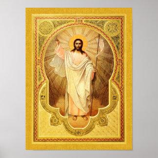 ¡El Anastasis - suben a Cristo! Poster del icono