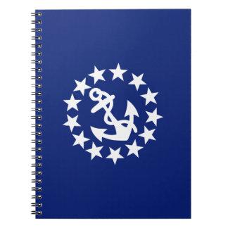 El ancla de la bandera del yate protagoniza libro de apuntes con espiral