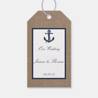 El ancla de la marina de guerra en la colección etiquetas para regalos