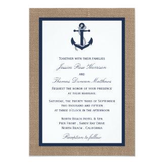 """El ancla de la marina de guerra en la colección invitación 5"""" x 7"""""""