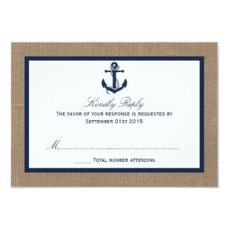 """El ancla de la marina de guerra en la colección invitación 3.5"""" x 5"""""""