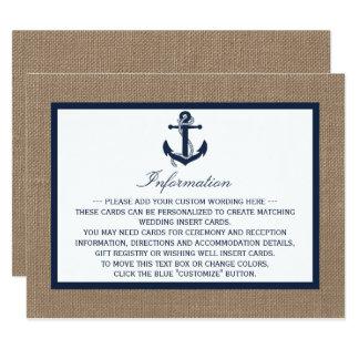 """El ancla de la marina de guerra en la colección invitación 4.25"""" x 5.5"""""""
