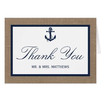 El ancla de la marina de guerra en la colección tarjeta pequeña
