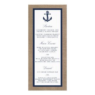 El ancla de la marina de guerra en la colección tarjeta publicitaria