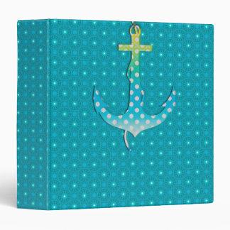 El ancla linda en azul abstracto adorna la carpeta