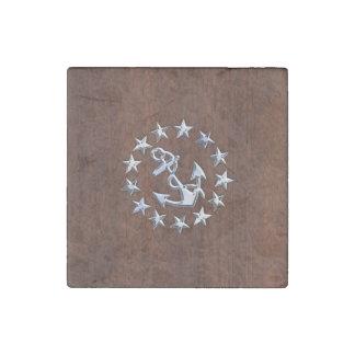 El ancla náutica de la bandera del yate imán de piedra