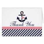 El ancla náutica de la marina de guerra rosada le  tarjetón