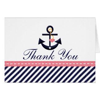 El ancla náutica de la marina de guerra rosada le  tarjeta pequeña