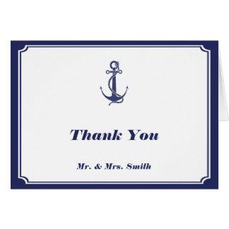 El ancla náutica en la marina de guerra le tarjeta pequeña