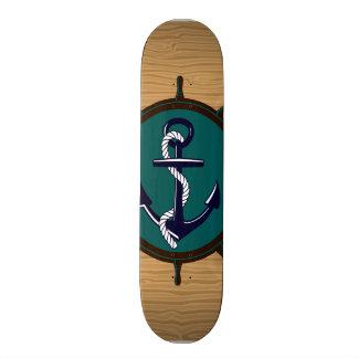 El ancla náutica envía diseño del marinero del tim patines personalizados