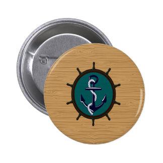 El ancla náutica envía diseño del marinero del tim pin redondo 5 cm